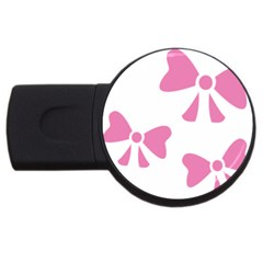 Bow Ties Pink Usb Flash Drive Round (2 Gb) by Alisyart