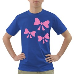 Bow Ties Pink Dark T Shirt by Alisyart