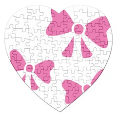 Bow Ties Pink Jigsaw Puzzle (heart)