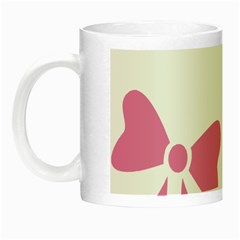 Bow Ties Pink Night Luminous Mugs by Alisyart