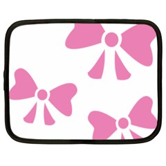 Bow Ties Pink Netbook Case (xl)  by Alisyart