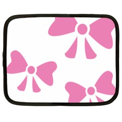 Bow Ties Pink Netbook Case (xxl)  by Alisyart