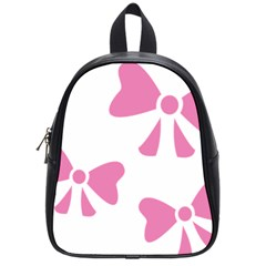 Bow Ties Pink School Bags (small)  by Alisyart