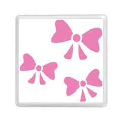Bow Ties Pink Memory Card Reader (square)  by Alisyart