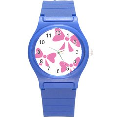 Bow Ties Pink Round Plastic Sport Watch (s) by Alisyart