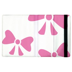 Bow Ties Pink Apple Ipad 2 Flip Case by Alisyart