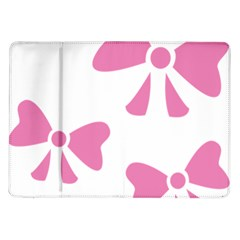 Bow Ties Pink Samsung Galaxy Tab 10 1  P7500 Flip Case by Alisyart