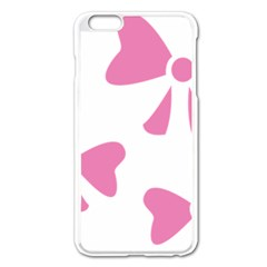 Bow Ties Pink Apple Iphone 6 Plus/6s Plus Enamel White Case by Alisyart