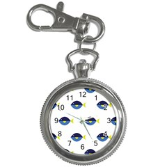 Blue Fish Swim Yellow Sea Beach Key Chain Watches by Alisyart