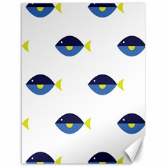Blue Fish Swim Yellow Sea Beach Canvas 18  X 24   by Alisyart