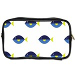 Blue Fish Swim Yellow Sea Beach Toiletries Bags 2-Side Front