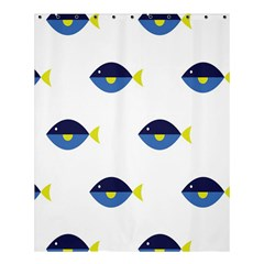 Blue Fish Swim Yellow Sea Beach Shower Curtain 60  X 72  (medium)  by Alisyart