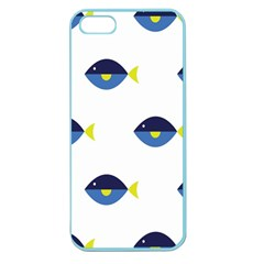Blue Fish Swim Yellow Sea Beach Apple Seamless Iphone 5 Case (color) by Alisyart