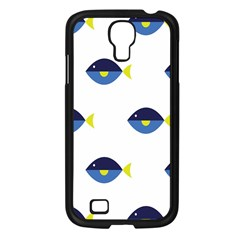 Blue Fish Swim Yellow Sea Beach Samsung Galaxy S4 I9500/ I9505 Case (black) by Alisyart