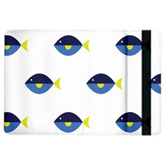 Blue Fish Swim Yellow Sea Beach Ipad Air 2 Flip by Alisyart
