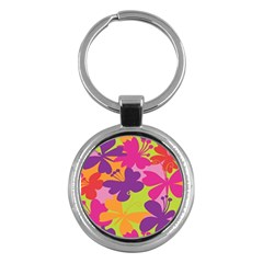 Butterfly Animals Rainbow Color Purple Pink Green Yellow Key Chains (round)  by Alisyart