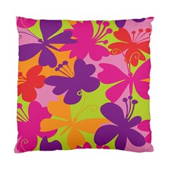Butterfly Animals Rainbow Color Purple Pink Green Yellow Standard Cushion Case (two Sides) by Alisyart