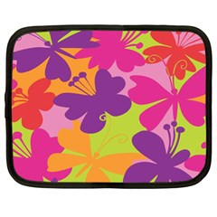 Butterfly Animals Rainbow Color Purple Pink Green Yellow Netbook Case (xl)  by Alisyart