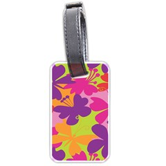 Butterfly Animals Rainbow Color Purple Pink Green Yellow Luggage Tags (one Side)  by Alisyart