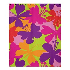 Butterfly Animals Rainbow Color Purple Pink Green Yellow Shower Curtain 60  X 72  (medium)  by Alisyart