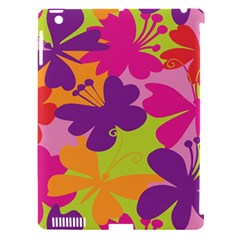 Butterfly Animals Rainbow Color Purple Pink Green Yellow Apple Ipad 3/4 Hardshell Case (compatible With Smart Cover) by Alisyart
