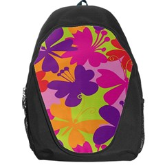 Butterfly Animals Rainbow Color Purple Pink Green Yellow Backpack Bag