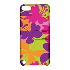 Butterfly Animals Rainbow Color Purple Pink Green Yellow Apple Ipod Touch 5 Hardshell Case With Stand by Alisyart