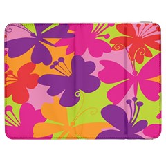Butterfly Animals Rainbow Color Purple Pink Green Yellow Samsung Galaxy Tab 7  P1000 Flip Case