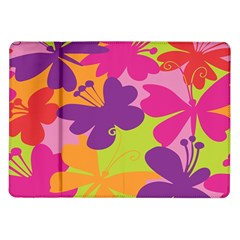 Butterfly Animals Rainbow Color Purple Pink Green Yellow Samsung Galaxy Tab 10 1  P7500 Flip Case