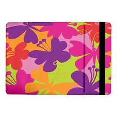 Butterfly Animals Rainbow Color Purple Pink Green Yellow Samsung Galaxy Tab Pro 10 1  Flip Case