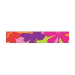 Butterfly Animals Rainbow Color Purple Pink Green Yellow Flano Scarf (mini) by Alisyart