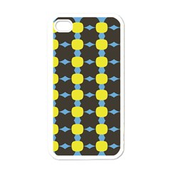 Blue Black Yellow Plaid Star Wave Chevron Apple Iphone 4 Case (white)