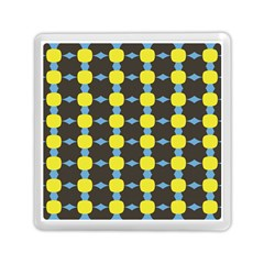 Blue Black Yellow Plaid Star Wave Chevron Memory Card Reader (square)  by Alisyart