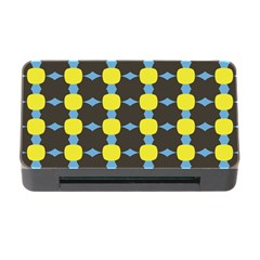 Blue Black Yellow Plaid Star Wave Chevron Memory Card Reader With Cf by Alisyart