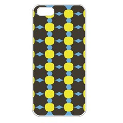 Blue Black Yellow Plaid Star Wave Chevron Apple Iphone 5 Seamless Case (white) by Alisyart
