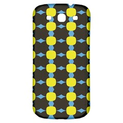 Blue Black Yellow Plaid Star Wave Chevron Samsung Galaxy S3 S Iii Classic Hardshell Back Case