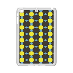 Blue Black Yellow Plaid Star Wave Chevron Ipad Mini 2 Enamel Coated Cases