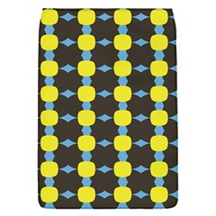 Blue Black Yellow Plaid Star Wave Chevron Flap Covers (s)  by Alisyart