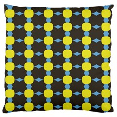 Blue Black Yellow Plaid Star Wave Chevron Standard Flano Cushion Case (two Sides) by Alisyart
