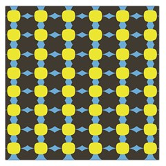 Blue Black Yellow Plaid Star Wave Chevron Large Satin Scarf (square) by Alisyart