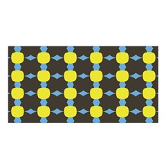 Blue Black Yellow Plaid Star Wave Chevron Satin Shawl by Alisyart