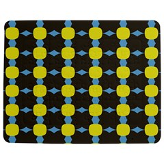 Blue Black Yellow Plaid Star Wave Chevron Jigsaw Puzzle Photo Stand (rectangular) by Alisyart