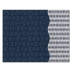 Argyle Triangle Plaid Blue Grey Rectangular Jigsaw Puzzl by Alisyart