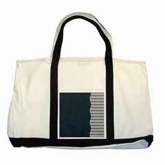 Argyle Triangle Plaid Blue Grey Two Tone Tote Bag by Alisyart