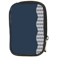 Argyle Triangle Plaid Blue Grey Compact Camera Cases by Alisyart