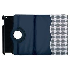 Argyle Triangle Plaid Blue Grey Apple Ipad 3/4 Flip 360 Case by Alisyart