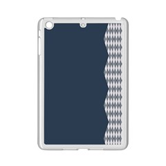 Argyle Triangle Plaid Blue Grey Ipad Mini 2 Enamel Coated Cases