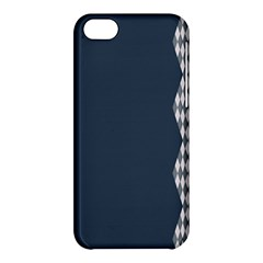 Argyle Triangle Plaid Blue Grey Apple Iphone 5c Hardshell Case by Alisyart