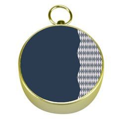 Argyle Triangle Plaid Blue Grey Gold Compasses by Alisyart