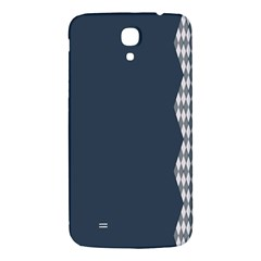 Argyle Triangle Plaid Blue Grey Samsung Galaxy Mega I9200 Hardshell Back Case by Alisyart